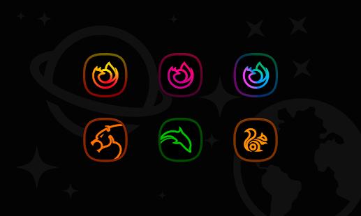 Horux Black - Icon Pack Skärmdump