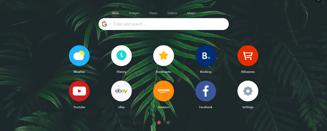 hemsida inställd på google