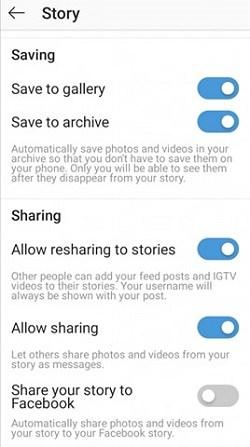 Instagram  hur man publicerar en berättelse på historien