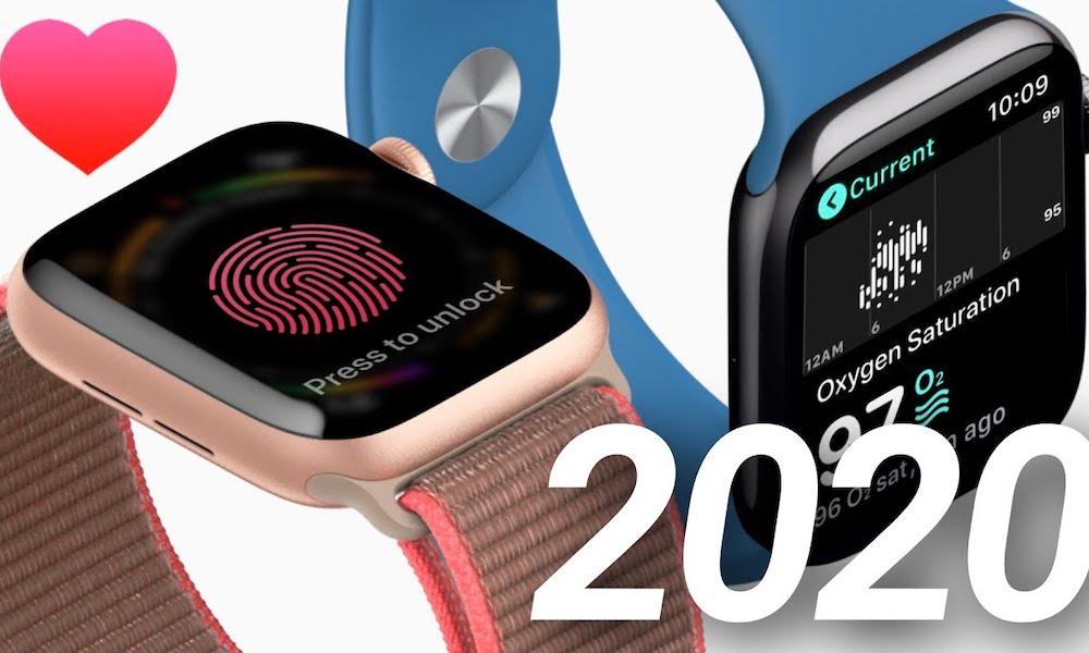 Apple Watch loạt 6, WatchOS 7 thêm cảm biến oxy máu, Touch ID 2