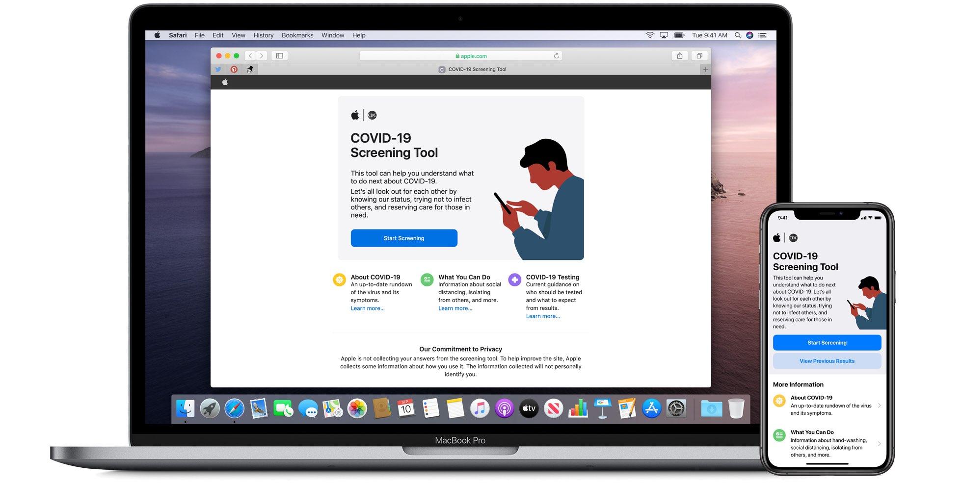Apple lanserar en dedikerad COVID-19-app och webbplats baserad på CDC-vägledning 1