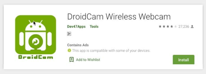 Làm thế nào để bạn sử dụng điện thoại thông minh Android của bạn như một webcam cho PC? 1