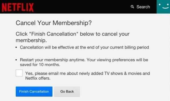Hur du avbryter ditt Netflix-prenumeration2