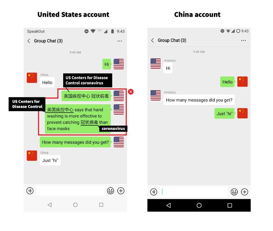 WeChat befann sig vara censurera specifika nyckelord om Coronavirus 1