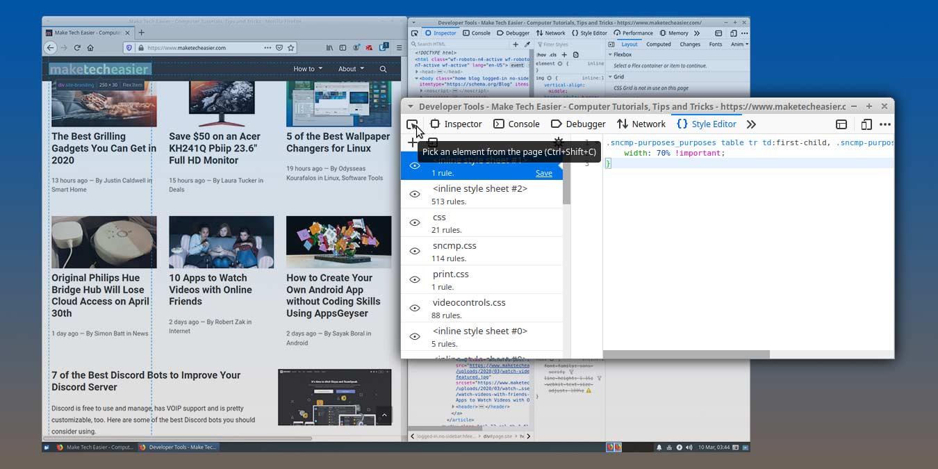 Cách chỉnh sửa trang web với Công cụ phát triển web của Firefox 3