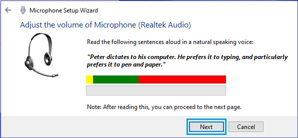 Điều chỉnh âm lượng micrô