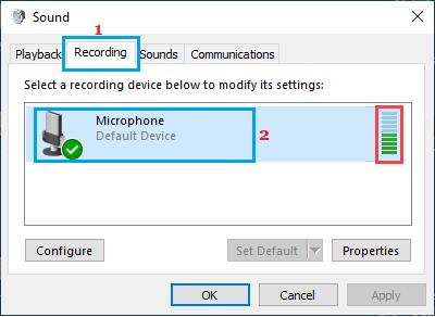 Kiểm tra tùy chọn micrô i Windows
