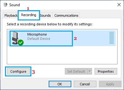 Định cấu hình tùy chọn micrô trong Windows