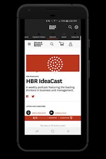Harvard Business Review Skärmdump