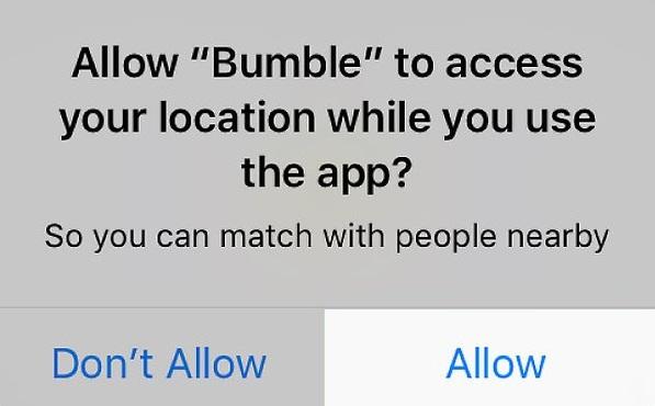 Uppdaterar Bumble din plats automatiskt? 3