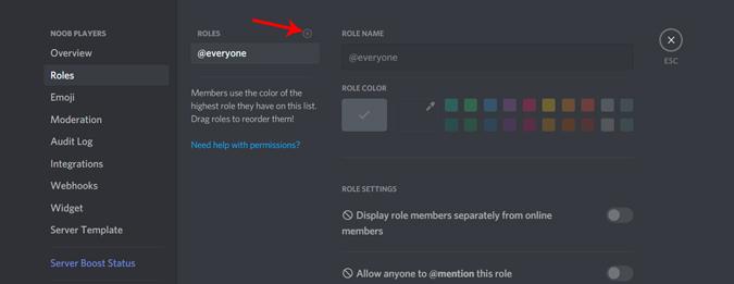 Cách cho phép người dùng chỉ định vai trò của mình trên Discord Server 1