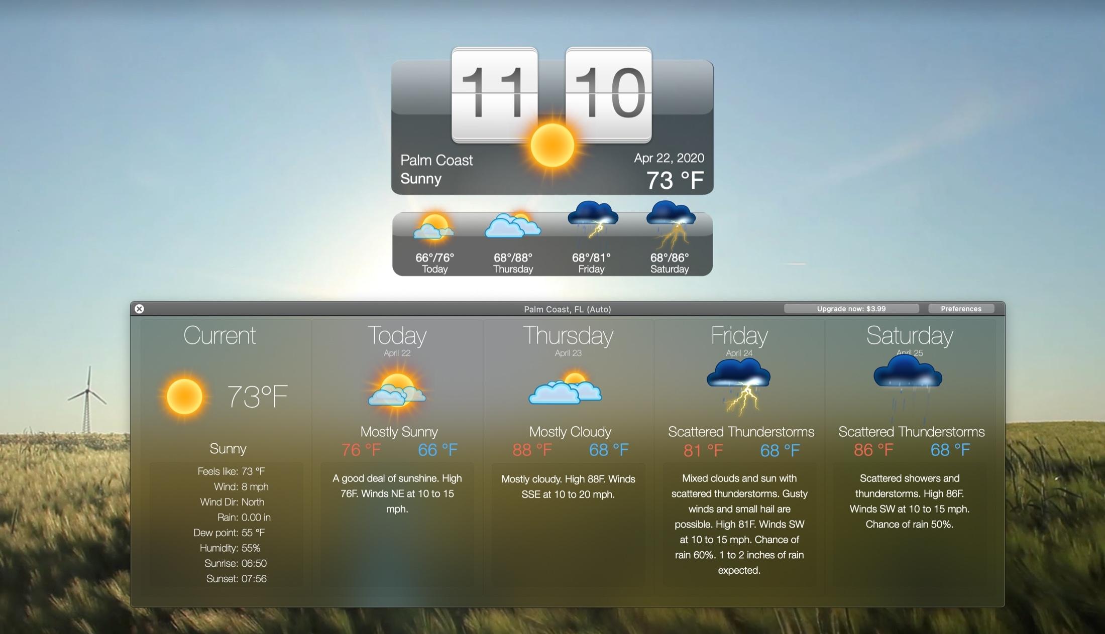 Živé počasie a tapety HD Mac
