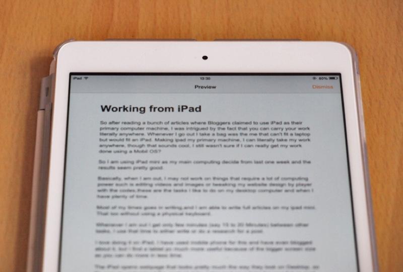 Používanie iPad Mini ako primárneho počítača a jeho účinnosť 3