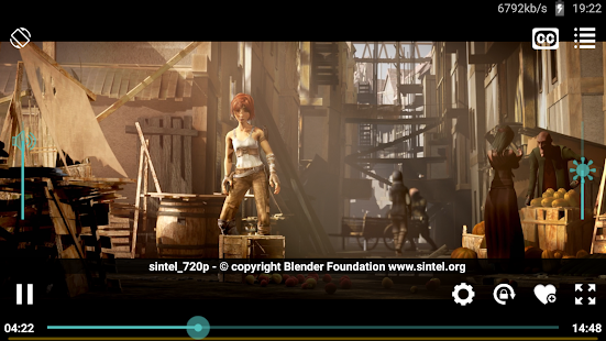 Snímka obrazovky prehrávača Wuffy Media Player
