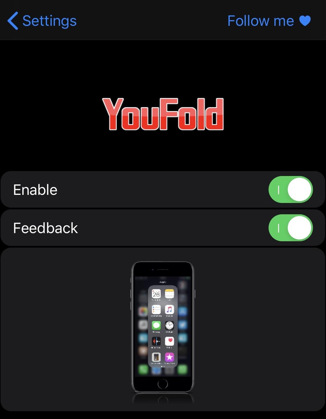YouFold pomáha zložkám lepšie využívať vysokú obrazovku vášho iPhone 2