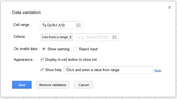 Ako vytvoriť rozbaľovací zoznam Tabuľky Google2