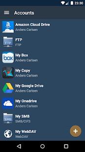 Snímka obrazovky FolderSync Pro