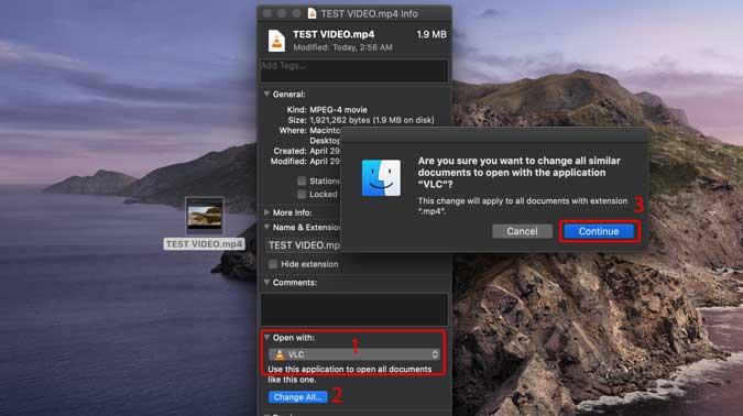 thay đổi tất cả các tập tin mp4 để phát trên VLC