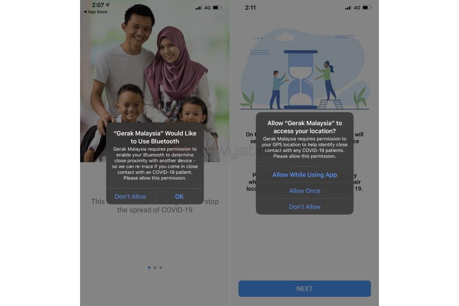 Gerak Malaysia: Một ứng dụng COVID-19 khác từ chính phủ Malaysia 3