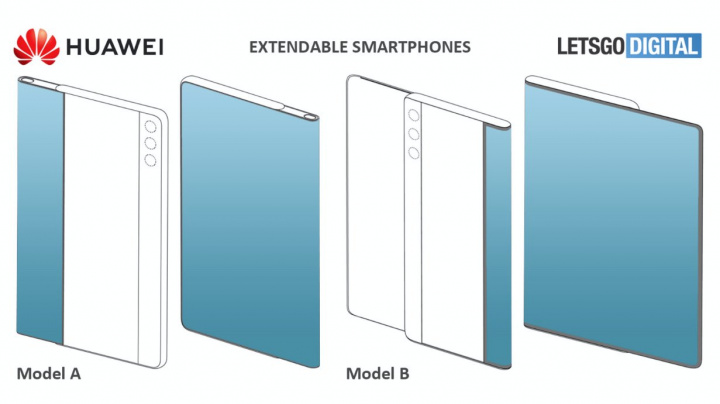 Patent smartfónu Huawei s posuvnou obrazovkou