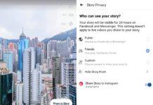 Facebook Instagram stories cross-post