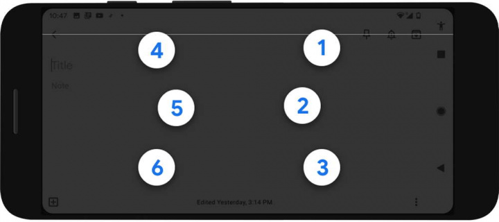 Braille Android-tangentbord Google smartphone
