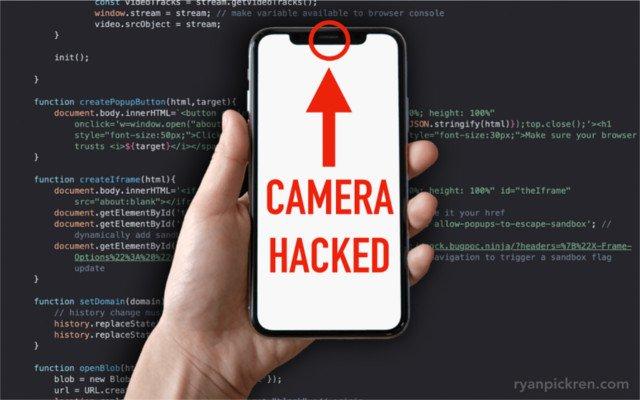 Hacker tìm thấy lỗ hổng trong máy ảnh Safari và iPhone 1