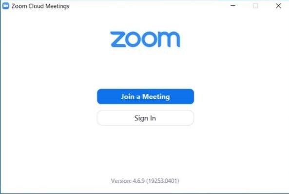 Cách thiết lập hoặc tham gia cuộc họp thu phóng 1