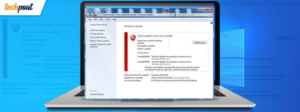 Làm thế nào để khắc phục Windows Cập nhật sự cố 1