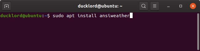 Cách kiểm tra thời tiết từ nhà ga với AnsiWeather 1