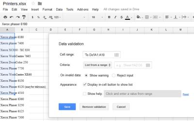 Cách tạo danh sách thả xuống Google Sheets 3