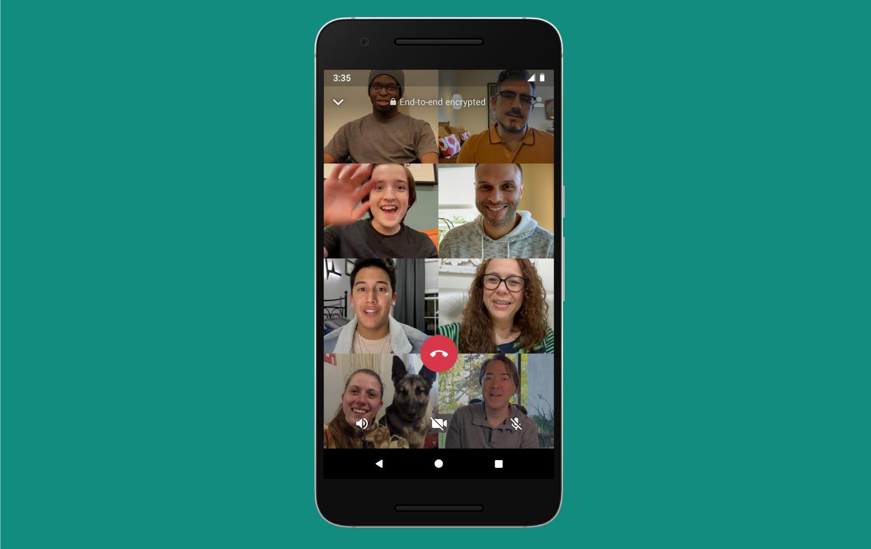 WhatsApp teraz podporuje skupinové videohovory až s ôsmimi ľuďmi 1