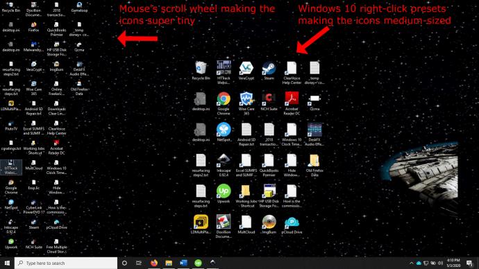 Windows 7 Ako zmenšiť ikony na ploche v systéme Windows 2