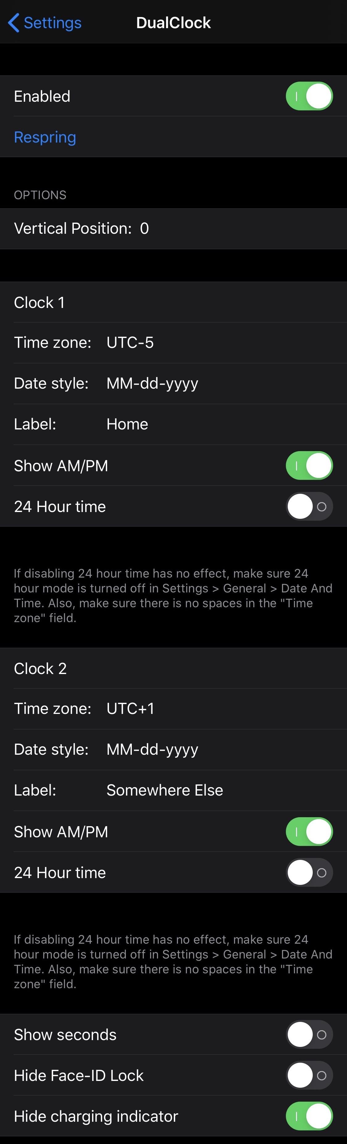 DualClock thêm đồng hồ múi giờ thứ cấp vào màn hình khóa iPhone của bạn 3