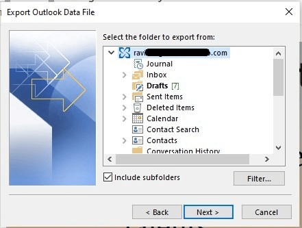 Làm cách nào để di chuyển tệp OST cho tài khoản Exchange, Outlook.com hoặc IMAP? 6