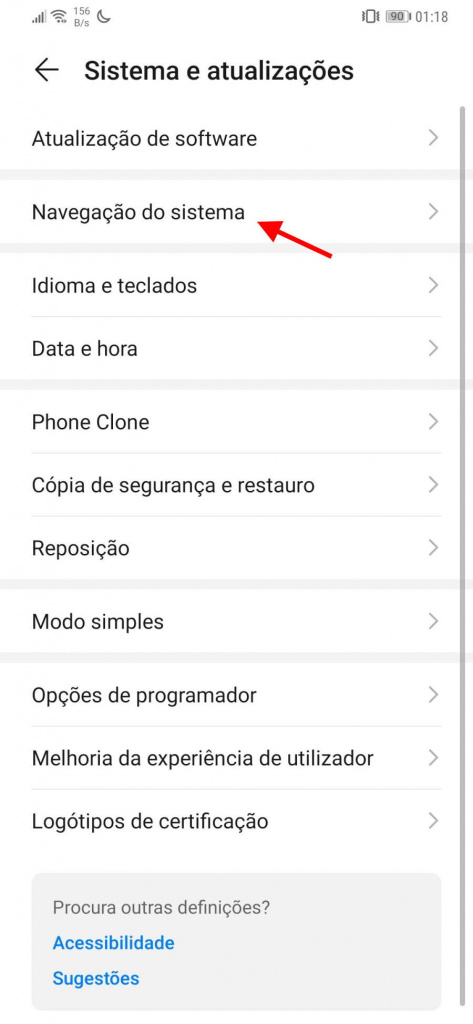 Android 10-gester aktiverar Google