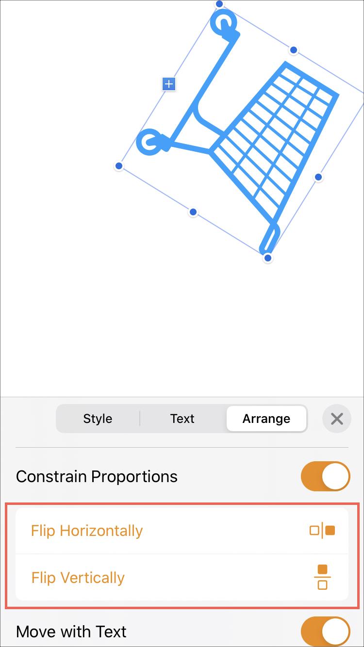 Trang Xoay đối tượng trên iPhone