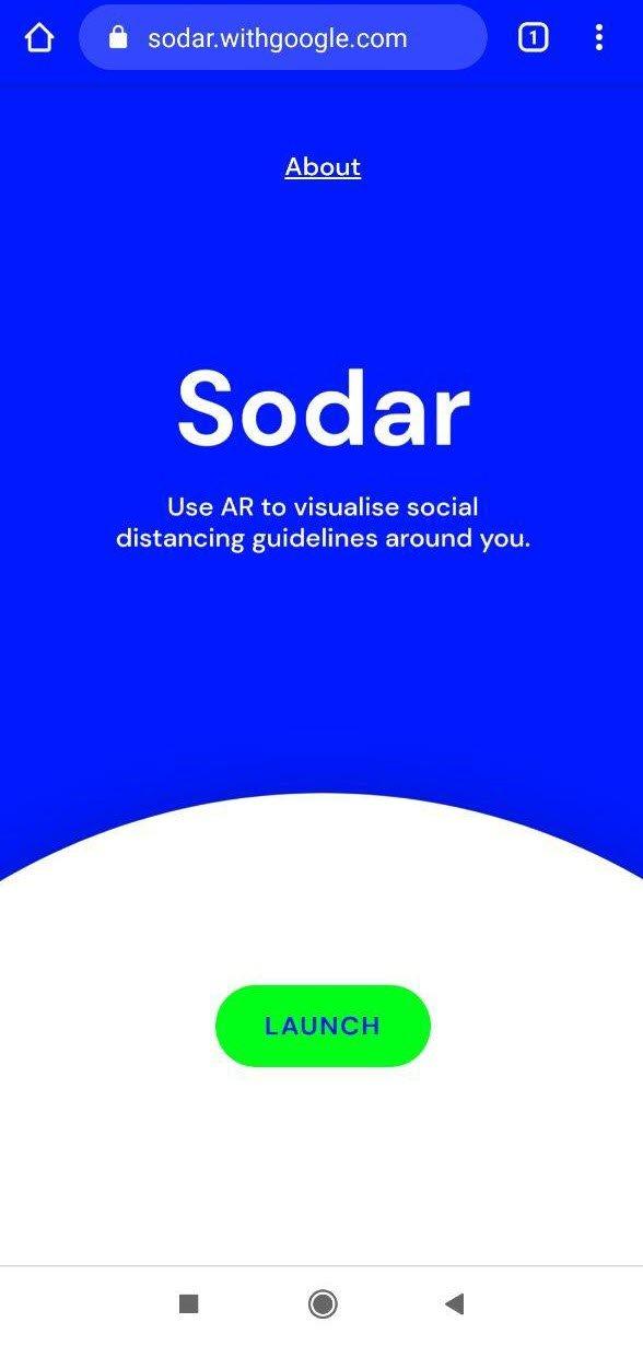 Giữ khoảng cách của bạn khi đi ra ngoài bằng điện thoại thông minh và Sodar 1