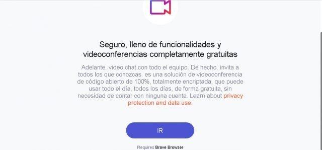 Gặp gỡ dịch vụ gọi video được tích hợp trong trình duyệt dũng cảm 2
