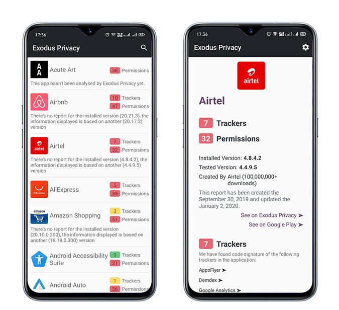 Ứng dụng Android này cho phép bạn xem các trình theo dõi ứng dụng Android khác 2