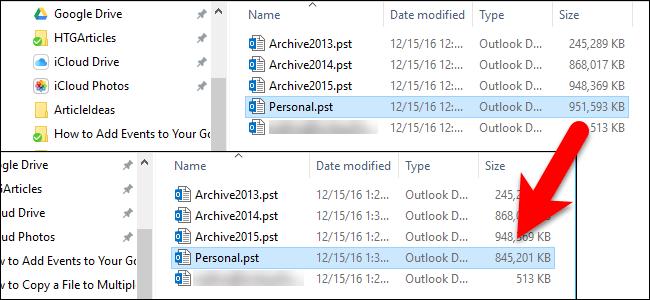 Cách khắc phục sự cố lập chỉ mục Outlook 2016 trên PST cục bộ 1