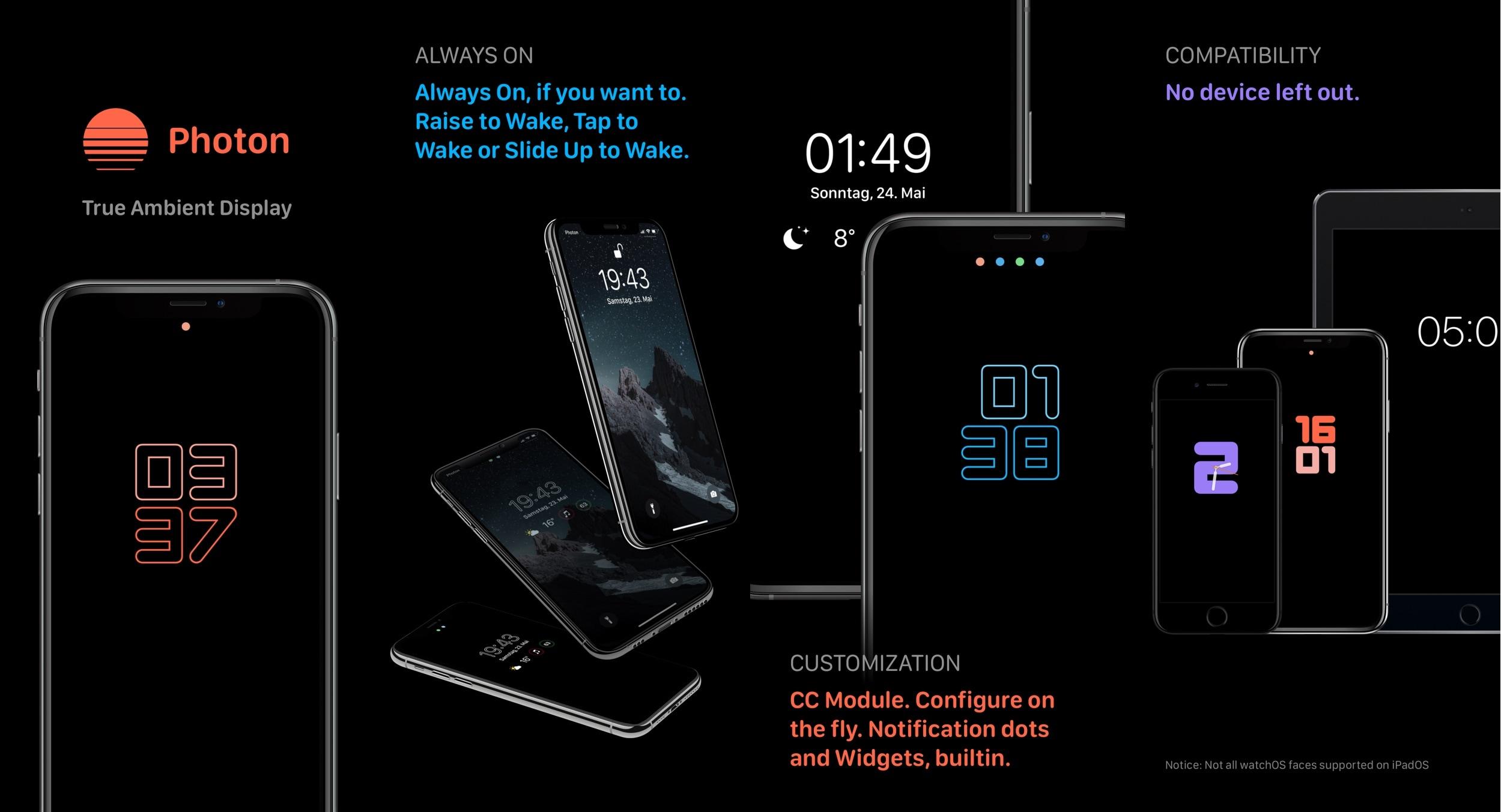 Photon cung cấp màn hình xung quanh cho các thiết bị iOS 13 đã jailbreak 1