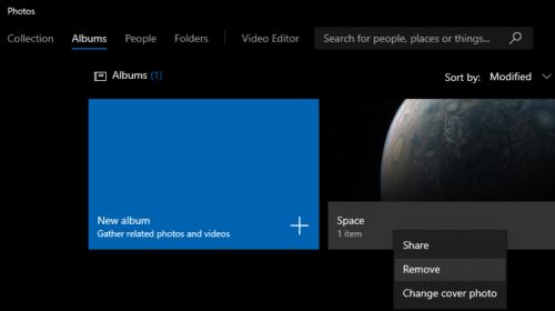 Windows 10: Xóa một album trong ảnh ứng dụng 3