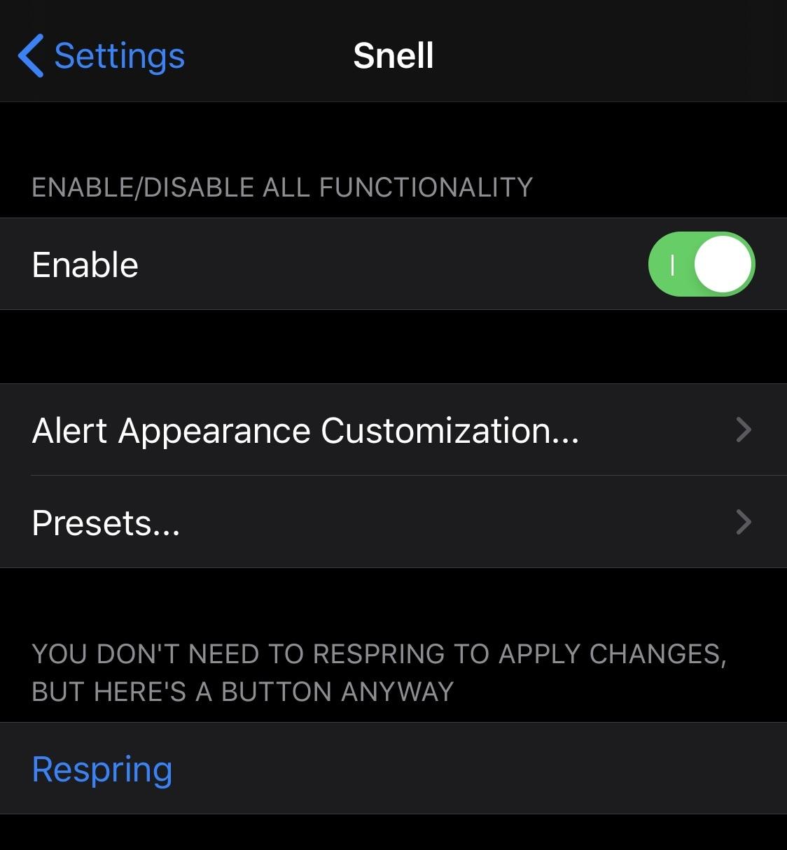 Thêm bất kỳ ký tự nào vào tin nhắn cảnh báo trên iPhone của bạn bằng Snell 2