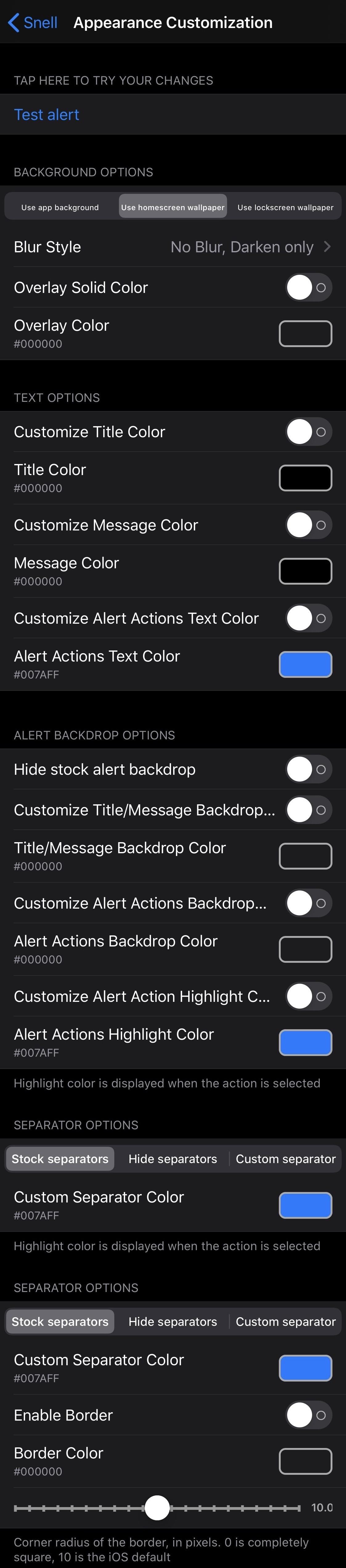 Thêm bất kỳ ký tự nào vào tin nhắn cảnh báo trên iPhone của bạn bằng Snell 3