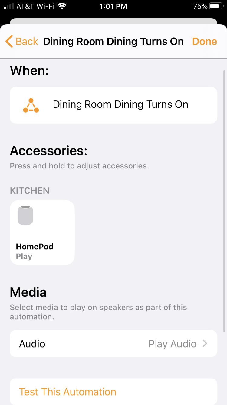 Tự động hóa nhà khi phụ kiện kích hoạt iPhone