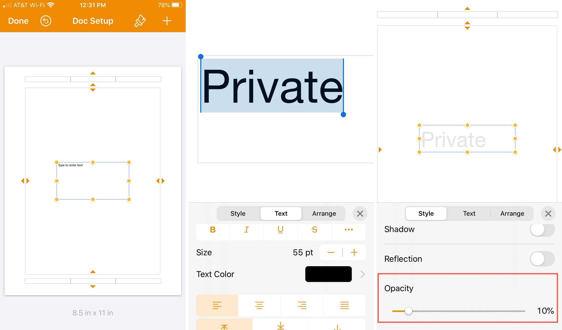 Trang Tài liệu Cài đặt Độ mờ iPhone