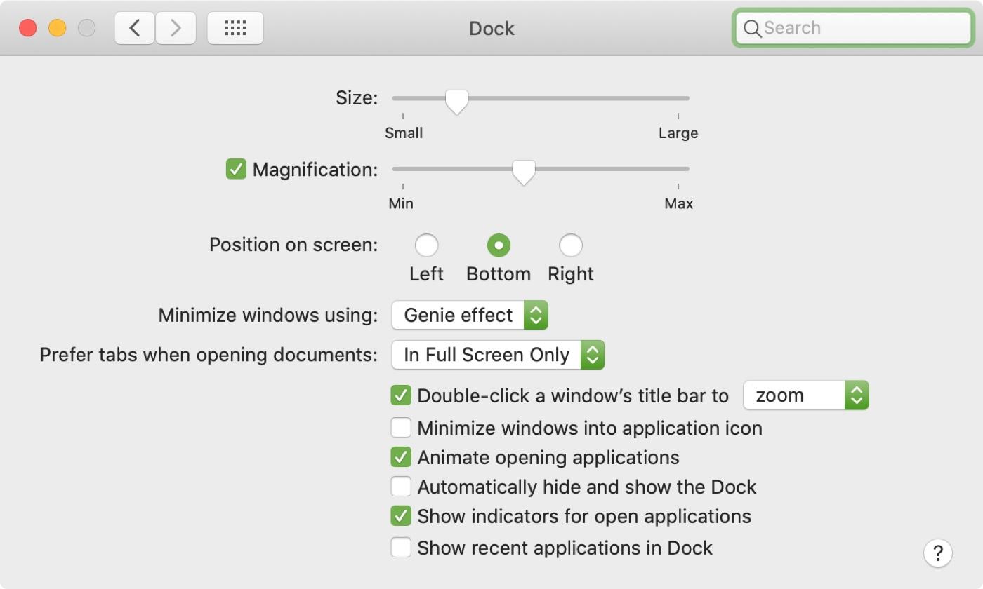 Cài đặt Dock Mac