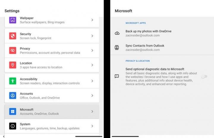 Xem những gì ứng dụng Microsoft Android có thể làm trên Surface Duo 10