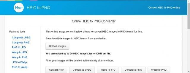 Thay đổi định dạng tệp của bạn và nén hình ảnh trong cùng một vị trí với Hnet 2